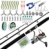 Dr.Fish Catfish Rod and Reel Combo Kits with Tackles 7ft Heavy Catfishing Fishing Pole Baitfeeder...