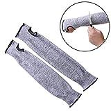 WHCWH Elbow Hülse Sicherheits-Schutz-elastische atmungsaktiv Anti-Cut Elbow-Arm-Hülsen HPPE Protektoren, Länge: 36cm