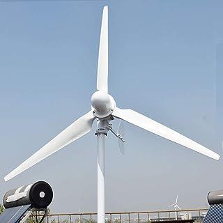 Kücheks 500W 5KW generador de energía Libre de turbina de Viento 220v 3 Palas generador hidráulico de Alta eficiencia (220V, 500W)