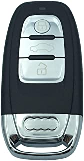 Replacement Car Key Fob Case Fit for Audi A1 A3 A4 A5 A6 A7 A8 Q5 Q7 S5 S7 R8 RS Entry Smart Remote Control Key Fob Cover 3 Buttons No Chip