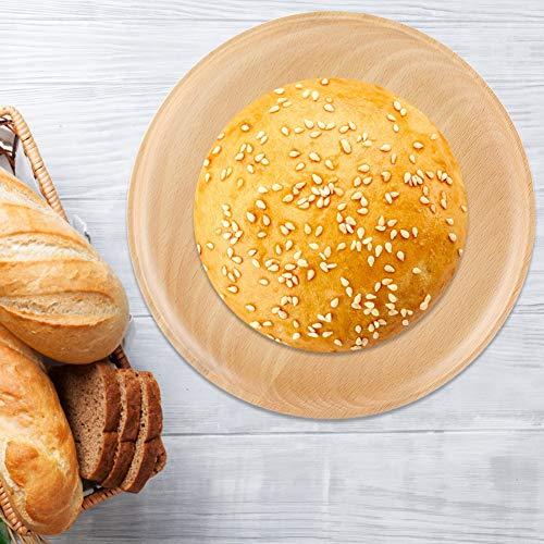 Buchenholzplatten, Freunde Geschenk Holzrunde Platte, umweltfreundlich für den täglichen Gebrauch vor dem Essen Servieren von Desserts Kaffeezeit