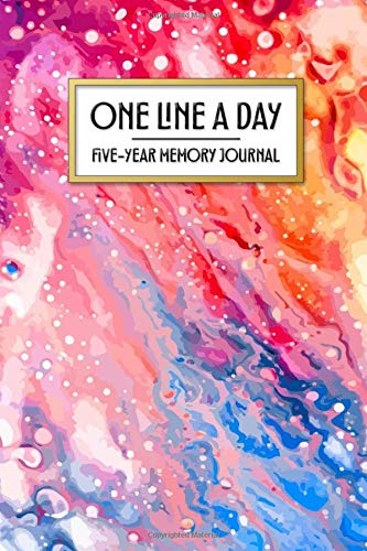 One Line a Day - Five Year Memory Journal: Beautiful Pocket Sized 5-Year Mindful Journal of Personal Memories - Great for New Parents, Marriage, ... Colors (4x6 Pocket One Line a Day Journal)