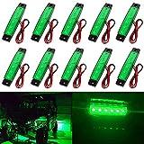 KEING 10X Led Rock Lights, Strip Lights, Wheel Well Lights, Waterproof Exterior Interior Lights, Jeep Wrangler, RZR, Offroad, Truck, RV, UTV, ATV, Ford, Snowmobile (Green)