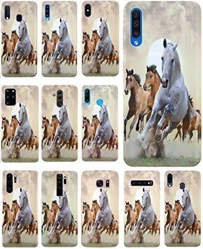 KUMO Hülle für WIKO Fever Handyhülle Design 1025 Pferd Pferde Braun Weiß aus flexiblem Silikon SchutzHülle Softcase HandyCover Hülle für WIKO Fever