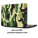MacBook Pro 13 Case Cover – Treasure21 Slim fit Smart Protection Soft Rubber Coating Smooth Better Grip Hard case Shell Cover for MacBook Pro 13 A1278 (Camo)