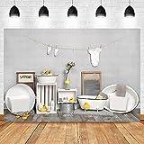 Fondo de fotos para recién nacidos de ducha para niños y niñas, ropa de baño Lavabo Retrato Fondo para Fotografía, Estudio de Fotografía, Estudio de Fotografía, Estudio de Fotografía, 2,1 x 1,5