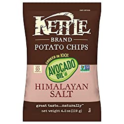 powerful Kettle Branded Potato Chips, 100% Himalayan Salt and Avocado Oil, 4.2 oz (15 Packs)