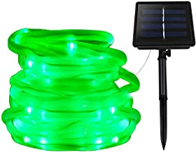 XUNATA Solar String Lights, Solar Rope Lights, 23FT 8 Modes 50 LED Outdoor Lighting Rope, Waterproof Copper Wire Rope Stri...