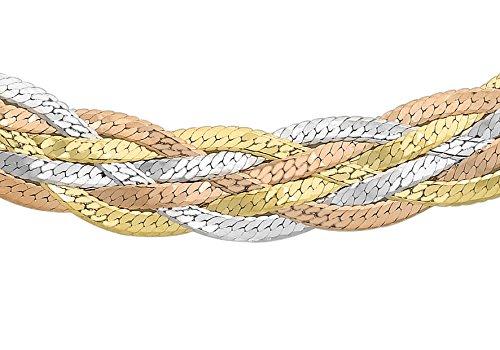 Carissima Gold Collana da Donna, Oro Giallo, Bianco e Rosso 9K (375)
