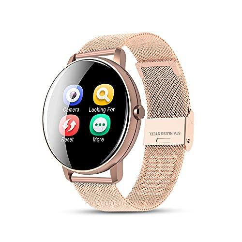 azorex Smartwatch Reloj Inteligente Deportivo Pulsera de Actividades Impermeable IP67 con Monitor de Frecuencia Cardíaca, Monitor de Sueño, Podómetro de Seguimiento de Actividad Física (Rosado)