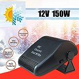 Wilove 12V Car Vehicle Portable Ceramic Heater Heating Cooling Fan Defroster Demister