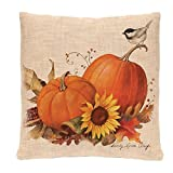Throw Pillowcase, Kimloog Pumpkin Owl Bat Skull Bones Print Halloween Linen Sofa Cushion Cover Home Decor Zipper Pillow Cases