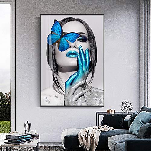 SADHAF Sexy Mädchen Leinwand Kunst Poster und abstrakte Wandkunst Druck Leinwanddruck Wohnzimmer Schlafzimmer Dekor A3 50x70cm