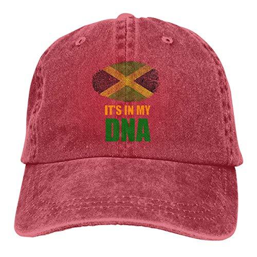 ONGH Jamaikaner Es ist in meiner DNA Jamaika Flagge Unisex Custom Cowboy Casquette Verstellbare Baseballkappe