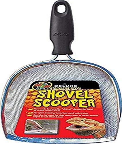Zoo Med TA-31e Deluxe Shovel Scooper, Sand-Sieb-Schaufel zur Terrarien-Reinigung