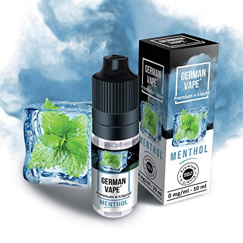German Vape E Liquid - E-Liquid ohne Nikotin - Echter Premium Geschmack - eLiquid 1 x 10 ml Menthol - E Liquids für E Zigarette - 100% Made in Germany
