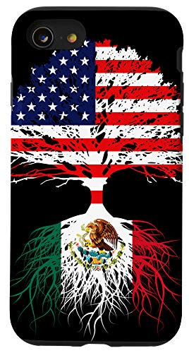 iPhone SE (2020) / 7 / 8 Mexican American Mexico Born Family Roots US Flag Gift Case
