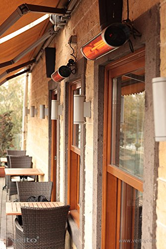 Blade S – Design Infrarot Heizstrahler mit 2500 Watt inklusive Fernbedienung , 4 Heizstufen, Timerfunktion, Carbonstrahler als Terrassenheizer bzw. Terrassenstrahler ideal geeignet. Infrarotstrahler für Indoor und Outdoor. - 5