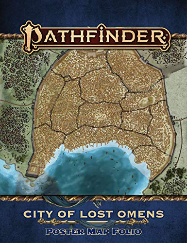 PATHFINDER CITY OF LOST OMENS POSTER MAP FOLIO