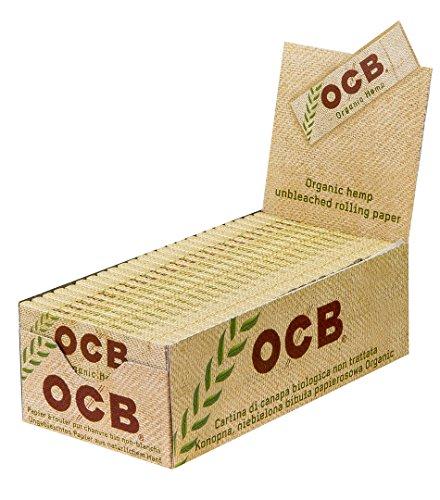 OCB Organic Hemp Regular Zigarettenpapier aus Bio-Hanf ungebleicht 2 Boxen (100 Heftchen)