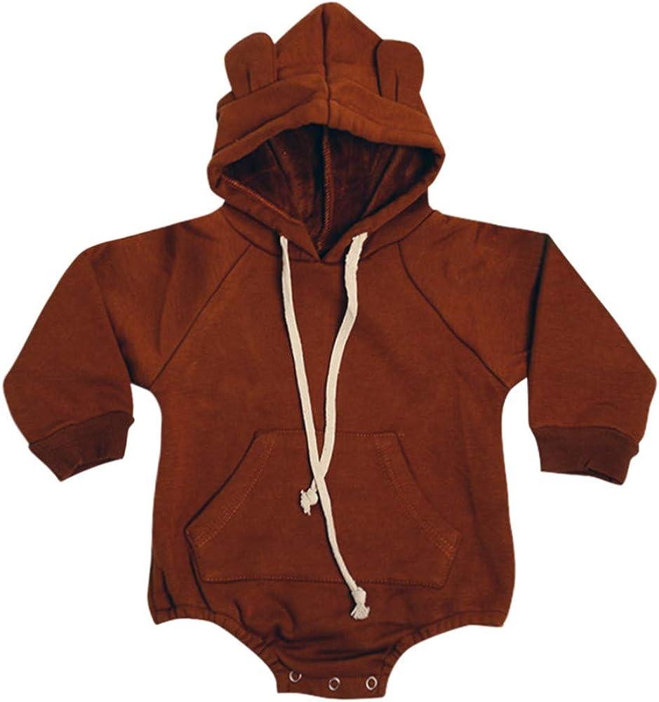 Baby Boy Girl Cartoon Ranking TOP2 Bear Fleece Warm Thick excellence Hoo Snowsuit Winter