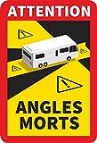 Michael & Rene Pflüger Barmstedt - Magnetschild Toter Winkel Frankreich für Caravan Wohnmobil Camper Sticker - KEIN Aufkleber
