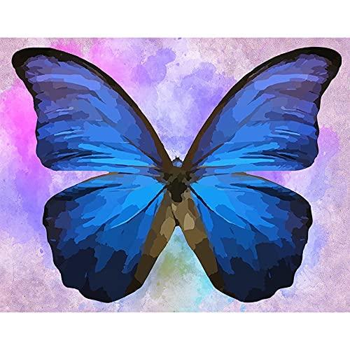 5D DIY diamante pintura mariposa diamante bordado mosaico imagen punto de cruz mano conjunto Animal patrón A12 60x80cm