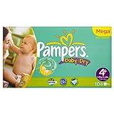 Pampers Windeln Baby Dry Gr.4+ Maxi Plus 9-20kg Megapack, 104 Stück