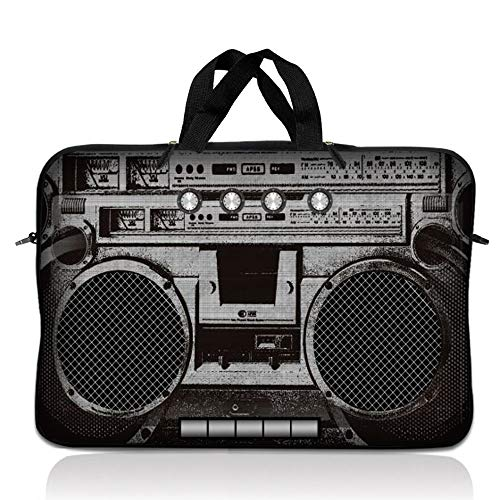 LSS 14.1 inch Laptop Sleeve Bag Carrying Case Pouch with Handle for 14' 14.1' Apple Macbook, GW, Acer, Asus, Dell, Hp, Sony, Toshiba, Cassette Player Design