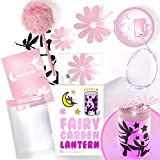 Uptown Farmer Kids: Crafts for Girls Age 8 - Fairy Garden Kit w LED Lantern Lights - Great Gift for 8 Year Old Girl - Arts and Craft Kits w Stationery - Birthday for Girls