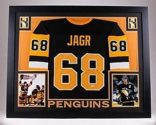 Jaromir Jagr Autographed Signed Framed Penguins Jersey (Size XL) PSA/DNA COA Hof