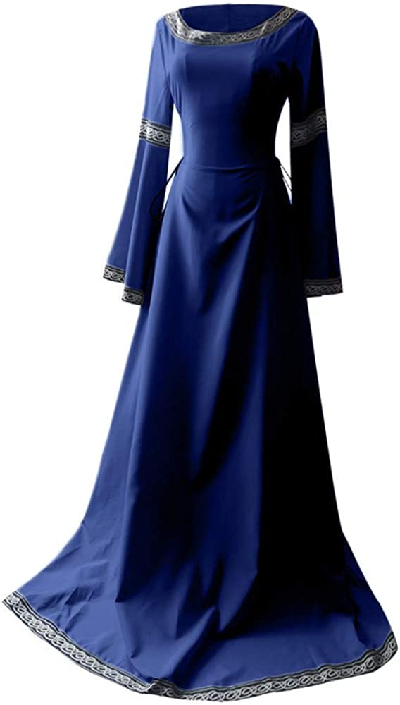Challenge the lowest price of Japan ☆ Women's Witch Dress Medieval Houston Mall Renaissance Sleeve Costumes Dr Long