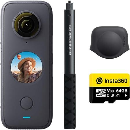 Insta360 ONE X2 プレミアムセット(ONE X2 x1、1.2m自撮り棒 x1、64GB SDカード x1、レンズキャップx1同梱)
