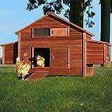 Poulailler en Bois pour Jardin extérieure Cage Canard équipé 2 nichoirs 188 x 87 x 113 cm -- 129 Ferme de Terrain