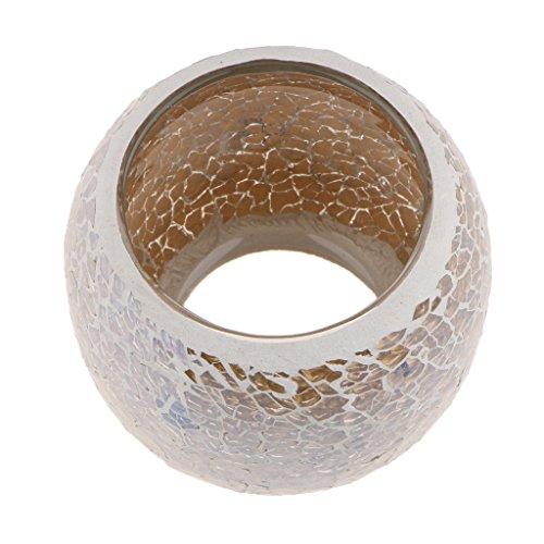 Fenteer Deko Mosaik Kerzenhalter Teelichthalter Hausdekoration Party - Gold