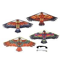 凧 1Mカイトおもちゃビッグフライバードカイト子供おもちゃのための簡単なGフィット屋外の飛行スポーツカイトコントロール鳥の子供たち アウトドア遊び スポーツ (Color : As shown)