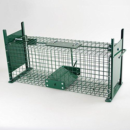 Lebendfalle Drahtfalle 50cm Käfigfalle Rattenfalle Doppeleingänge Tierfalle