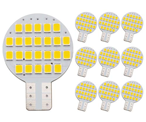 GRV T10 LED Light Bulb 921 194 192 C921 24-2835 SMD Super Bright Lamp DC 12V 2 Watt For Car RV Boat Ceiling Dome Interior Lights Warm White (2nd Generation) Pack of 10