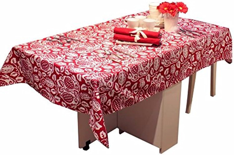 WFLJL Tischdecke Baumwolle Esstisch Couchtisch Wohnzimmer Rechteck Rot 140  220cm B076N365MP Qualität und Quantität garantiert     Qualität