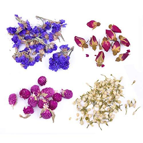 iSuperb gedroogde bloemen natuurlijke bloemen voor kaars maken zeep maken DIY bad bom maken kit Bloem