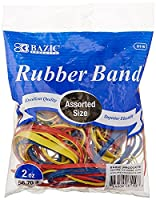 BAZIC 2 Oz./56.70g Assorted Sizes and Colors Rubber Bands (6110-36) by Bazic