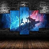 5 Panel/Set Lienzos Handart Cuadro En Lienzo Cinco Partes HD Clásico Óleo Impresiones Decorativas Cartel Arte Pared Pinturas Hogar Lienzo Rey Vs Kello *