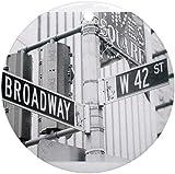 QgjayjqQ NY Broadway Times Square Ornamento (Redondo) Personalizado Cerámica Holiday Árbol de Navidad Adornos Ideas 2019