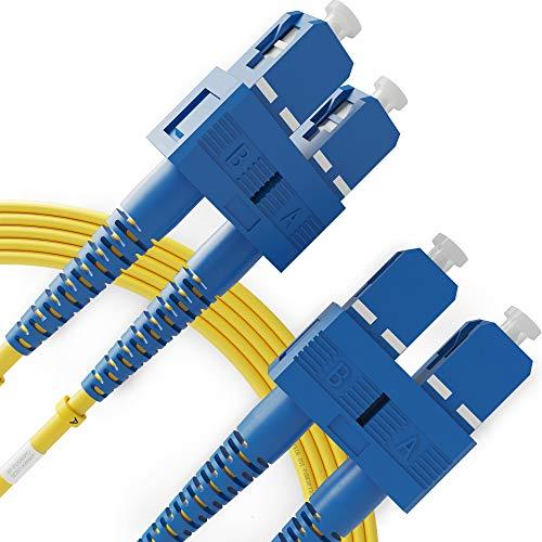 Cable De Fibra Óptica SC A SC 1M Monomodo Duplex - UPC/UPC - 9/125Um OS1 (LSZH) - Latiguillo Doble Fibra Óptica - Beyondtech PureOptics Cable Series