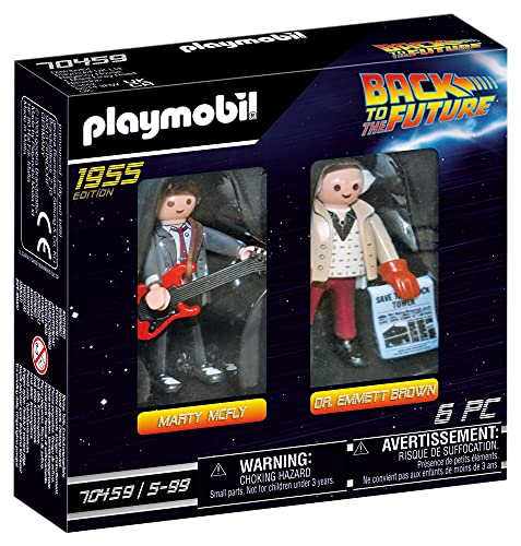PLAYMOBIL Back to the Future 70459 Marty Mcfly y Dr. Emmett Brown, A Partir de 6 Años