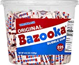 Bazooka Individually Wrapped Bubble Gum, Original Flavor, Nostalgia Retro Candy, 225 Count Bulk Tub - PACK OF 2
