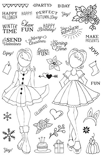 Prima Marketing Julie Nutting Planner Clear Stamp-Holiday Bliss