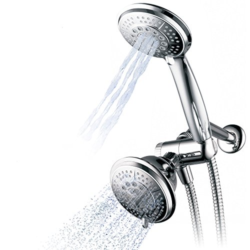 Hydroluxe 1433 Handheld Showerhead & Rain Shower Combo. High Pressure 24 Function 4' Face Dual 2 in...