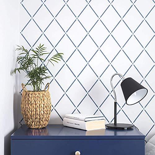 "Trellis Light Large Wall Stencil for Painting - XL Size 21""x32"" - Reusable Geometric Rhomb Stencil"