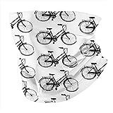 Bicicletas Antiguas Máscara Bandana Cubre Ropa Braga Cuello Banda para Cabello Bufanda 12 en 1 Multifuncional para Festival Musical Raves Deportes al aire libre